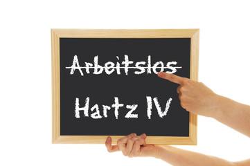 Schild Arbeitslos / Hartz IV