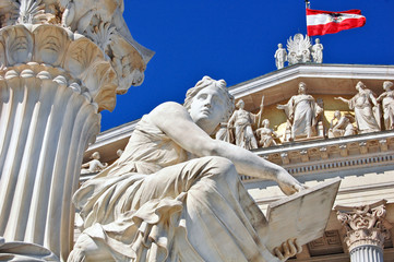 Photo sur Toile Vienne Austrian parliament, Vienna
