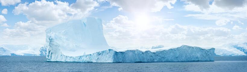 Poster Antarctica Antarctic ice island. Iceberg.