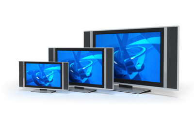 Flat screet TVs in 3 sizes