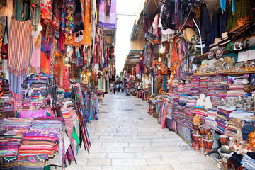 Souq in the Old part of Jerusalem, Israel.