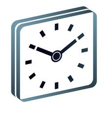 Uhr Wecker Uhrzeit 10 uhr Zifferblatt Piktogramm mit QXP9 Datei