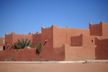 Poster Algérie Siedlung in der Sahara