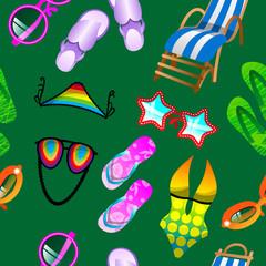 Green Seamless Summer Pattern