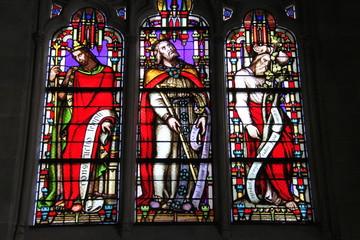 Foto op Plexiglas Stained Paris - Eglise Saint-Germain-l'Auxerrois