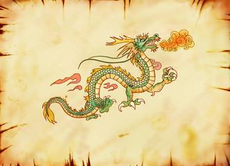 古い龍の絵