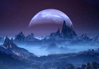 Alien Planet with a Moon