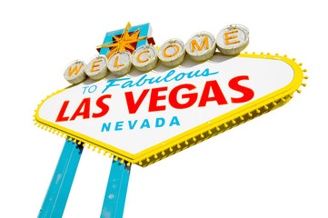welcome to Fabulous Las Vegas Sign on white