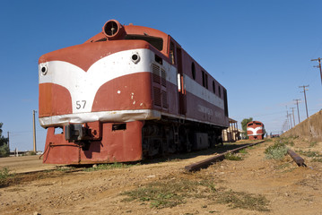 Abandoned train in Marree, South Australia