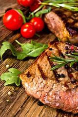Canvas Prints Grilled beef steak