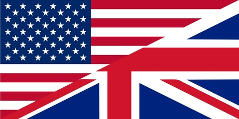 American and British English language icon