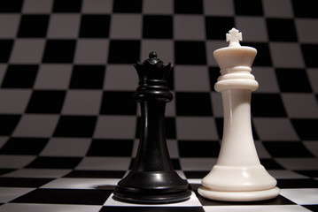 An interesting arrangement of pieces on the chessboard