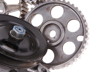 water pump with several gears