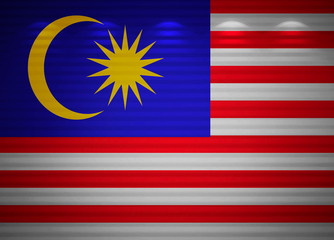 Malaysian flag wall, abstract background