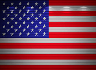 American flag wall, abstract background