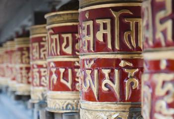 Photo sur Aluminium Népal Prayer wheels, Nepal