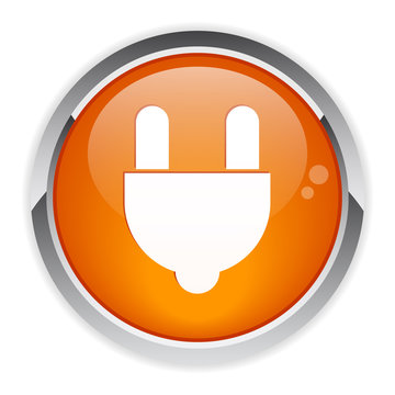 bouton internet prise electric power icon.