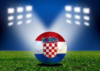 Croatia soccer  ball in european