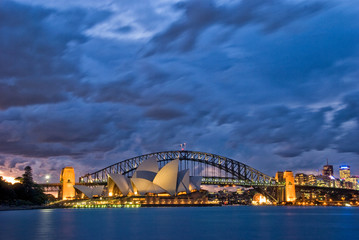 Aluminium Prints Sydney Sydney Harbour Twilight