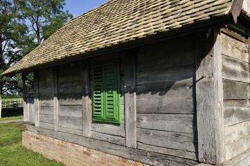 Oak cottage in the farmyard
