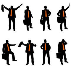 businessman with an orange tie