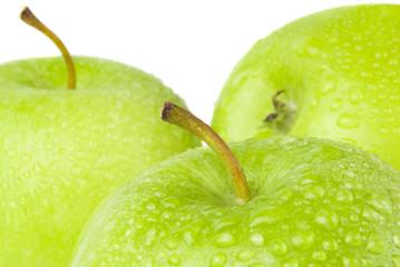 green apple macro in selective focus