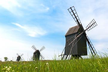 Alte Windmühlen bei Resmo, Insel Öland, Schweden
