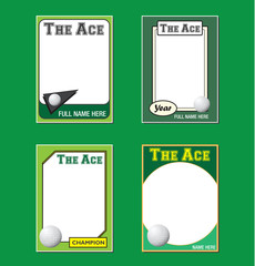 Golf Trading Card Picture Frames