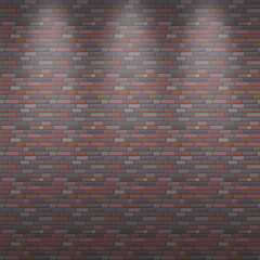 Seamless vector background of a brick wall