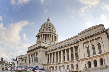 the capitolio building in the centre of havana, cuba