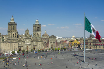 Photo sur cadre textile Mexique zocalo in mexico city