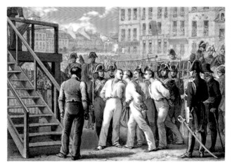 Execution (4 Sergents - La Rochelle - 1822)