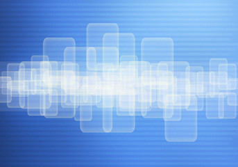panel touch screen background blue