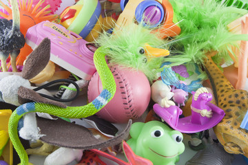 messy plastic toys
