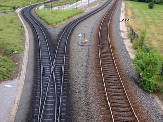 Schmalspurbahn und Normalspurbahn