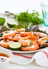 Steamed Prawn with sweet chilli sauce