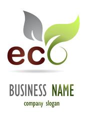 Business logo eco leaf design