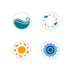 collection of sea icons