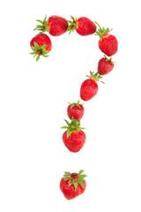 Photo sur Toile Dans la glace Question mark made of strawberries