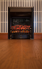 Retro electrical fireplace