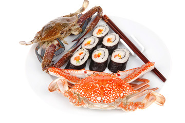 Japanese Cuisine : Sushi Maki with crabs