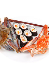 Japanese Traditional Cuisine - Roll with crabs