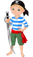 Foto op Plexiglas Piraten Pirate boy