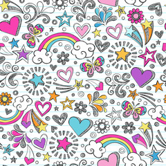 Sketchy Doodle School Seamless Pattern Vector
