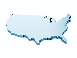 Map of usa isolated
