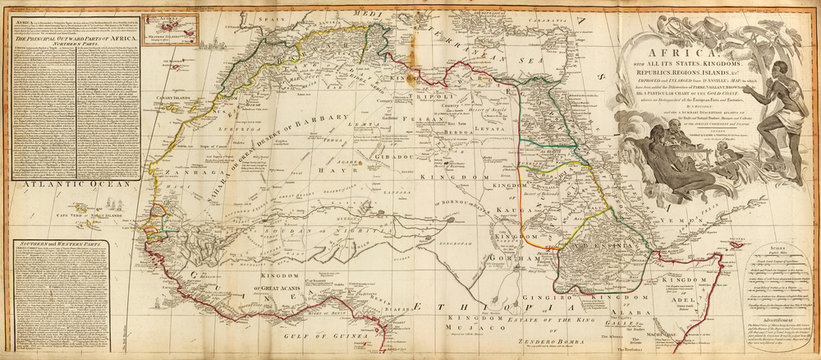 Old map of North Africa