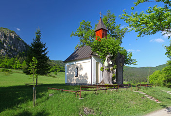 Spring landcape with chapel in eastern europe - Slovakia