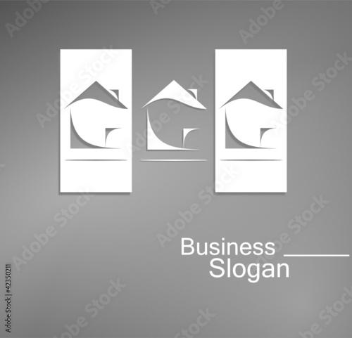 Logo architecture design noir et blanc fichier vectoriel for Architecture noir et blanc