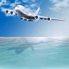 Jumbo-Jet beim Landeanflug