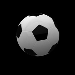 soccer ball isolated on black background